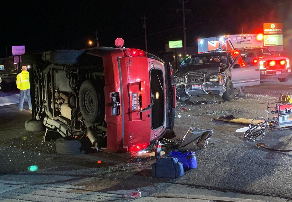 SUVs collide in Chubbuck