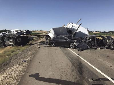 11-vehicle crash near Caldwell