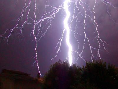 Thunderstorms hitting East Idaho stock image