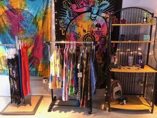 Clothing and tapestries.