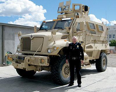 Preston Police Chief Ken Geddes - armored vehicle