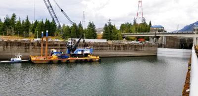Columbia River Broken Lock