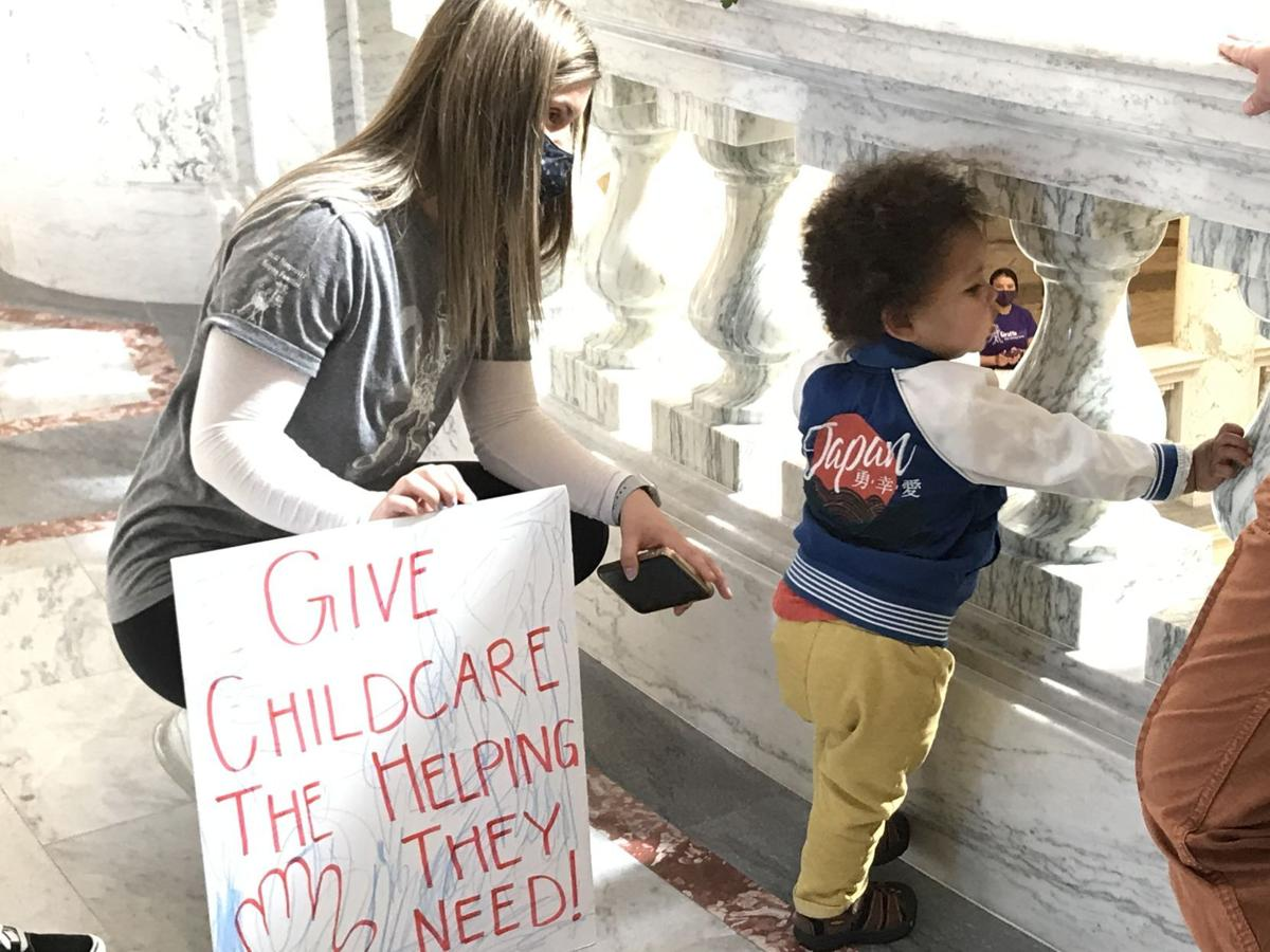4floor full size child care protest 5-3-21