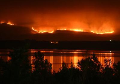 Wildfire Soda Fire Aug. 12, 2015