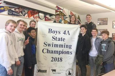 CHS swimming state banner