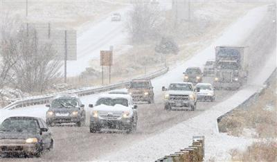 Winter weather snow snowstorm storm east idaho file photo stock image