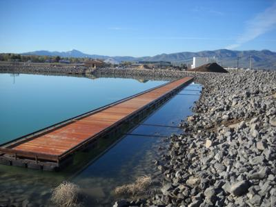 The fishing dock at the Portneuf Wellness Complex in Pocatello