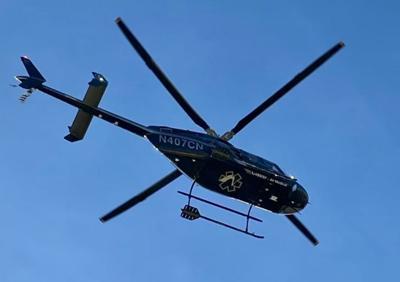 Portneuf Medical Center air ambulance helicopter stock image file photo ISJ