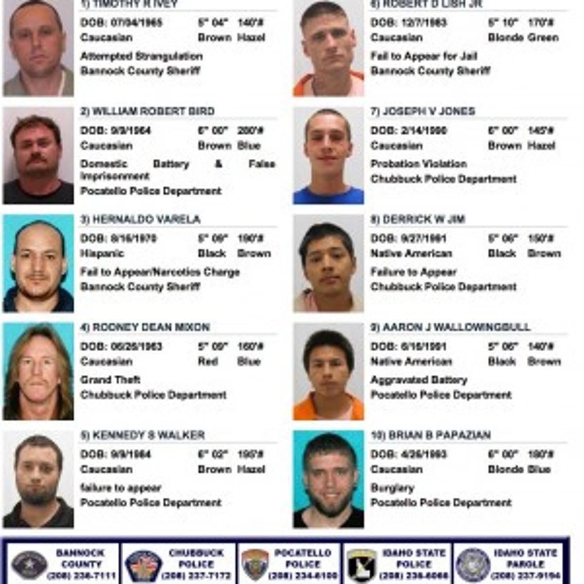 Bannock County releases Ten Most Wanted list | Local