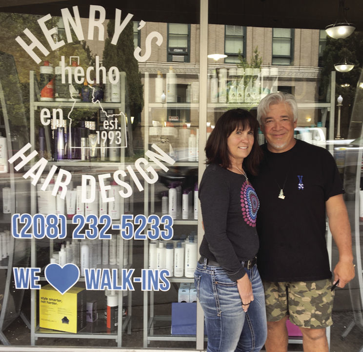 Henry Paz and wife Michelle Frasure of Henry's Hair Design
