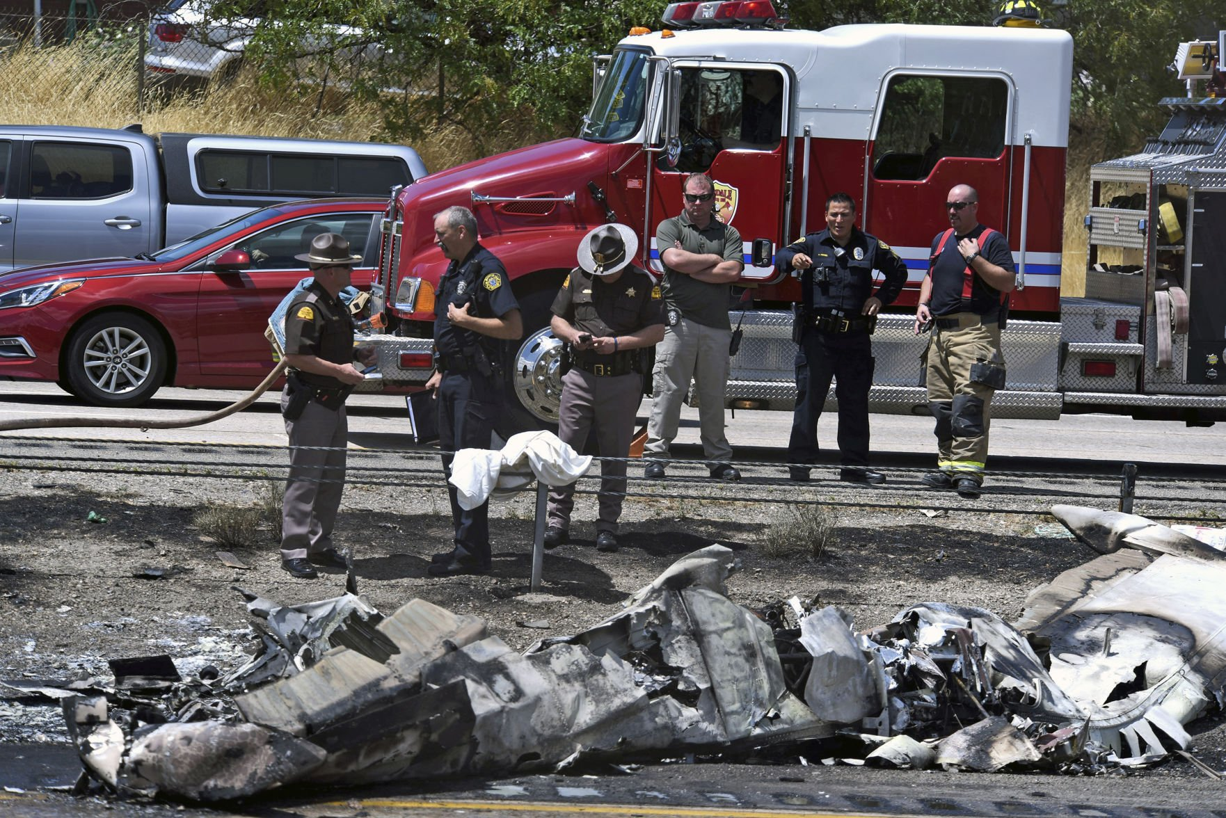 Utah I-15 Plane Crash: Photos & Videos of Damage Near Riverdale Road