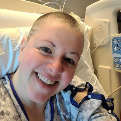 Nicole Arzola receiving treatment