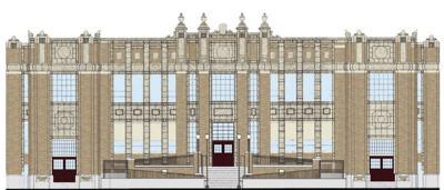 Pocatello High School front entrance renovation