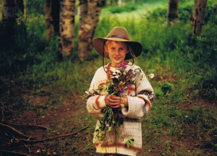 Kolby with flowers