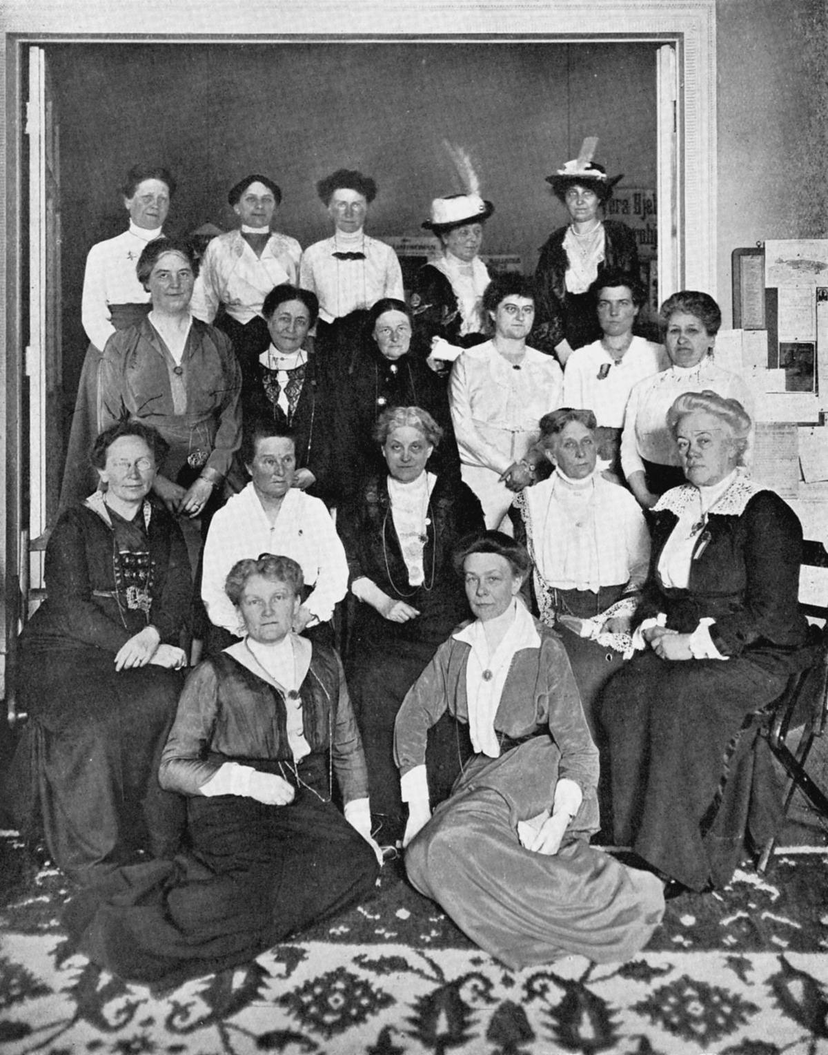 Leaders of international suffrage movement