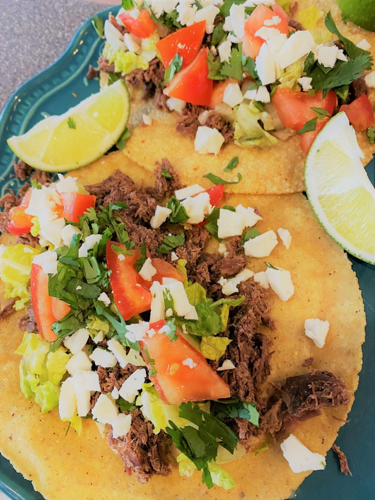 Belle's Shredded Beef Street Tacos