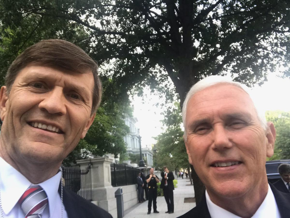 Kevin England and Mike Pence