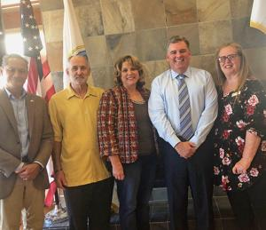 <p>During the last Chamber of Commerce Breakfast Port Commissioner Dan Malcolm was the featured speaker. From left Dante Pamintuan, Dave Ray, Karen Odermatt, Malcolm and Chamber President Valerie Acevez.</p>