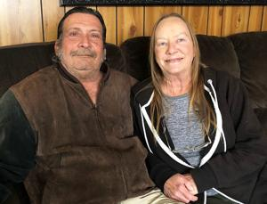 <p>Kenny Maiorano with his wife Jan. Maiorano retired from his job as manager at Crystal Clean Car Wash after 39 years.</p>