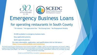 SCEDC Offers Loans