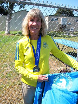 <p>Lori Palmer has ran four Boston Marathons. She has been a teacher at Oneonta Elementary School for 35 years and is retiring at the end of the school year.</p>