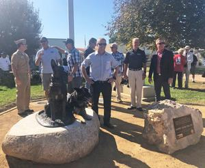Military Dog Statue ...