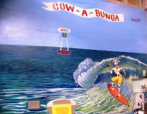 New Murals At Cow-A-Bunga