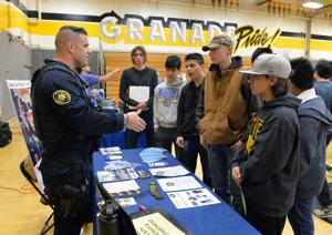 Granada High School's fourth annual CTE (Career and Technical Education) Fair featured information about jobs and the training needed to qualify for them. The fair is an annual event (Photos - Doug Jorgensen).