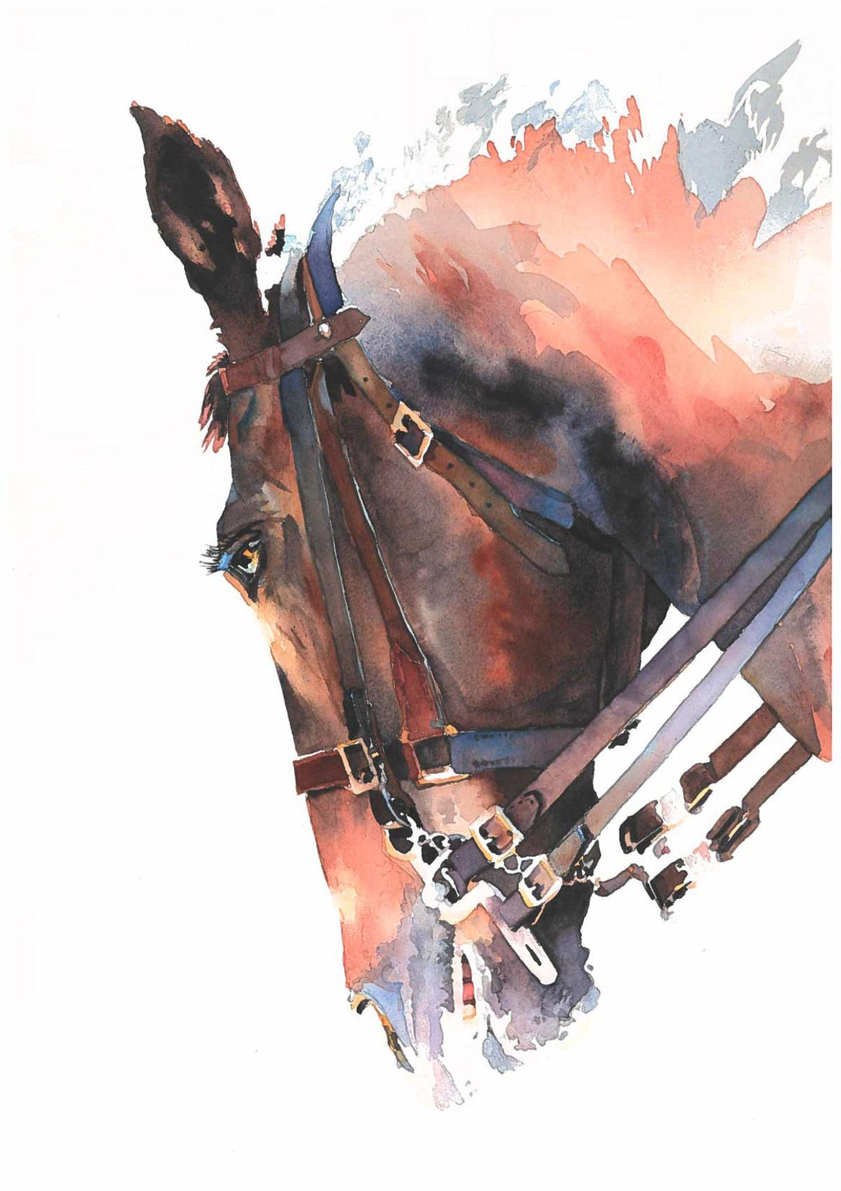 California Watercolor Association - Ronnie Rector-Summer Rein