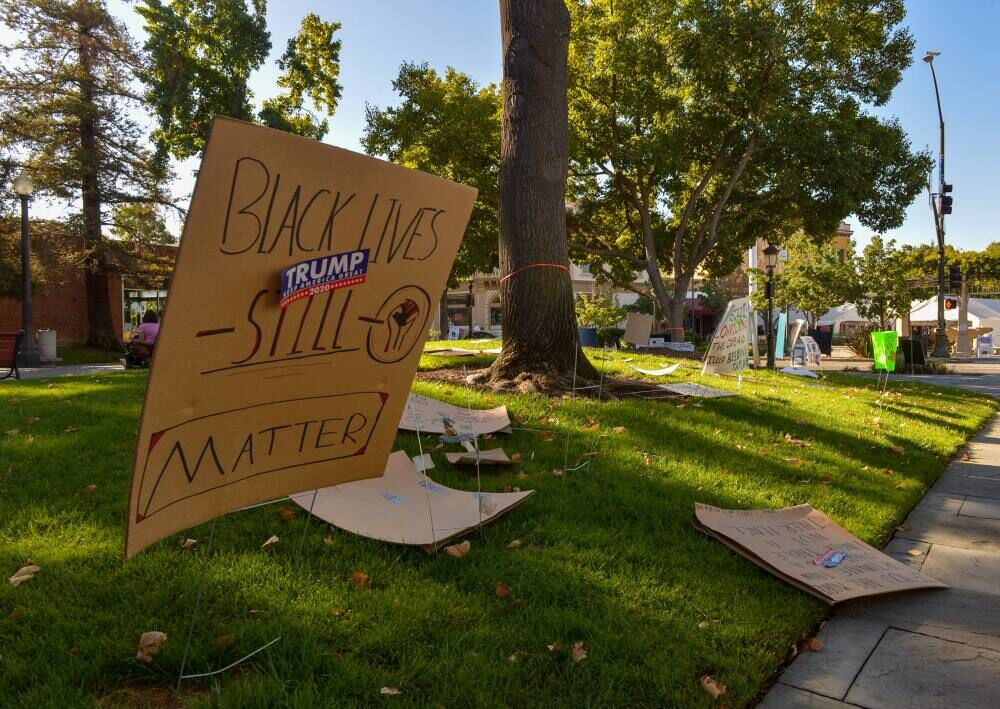 Tri-Valley for Black Lives' Signs Vandalized