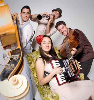 Jessica Fichot with her band