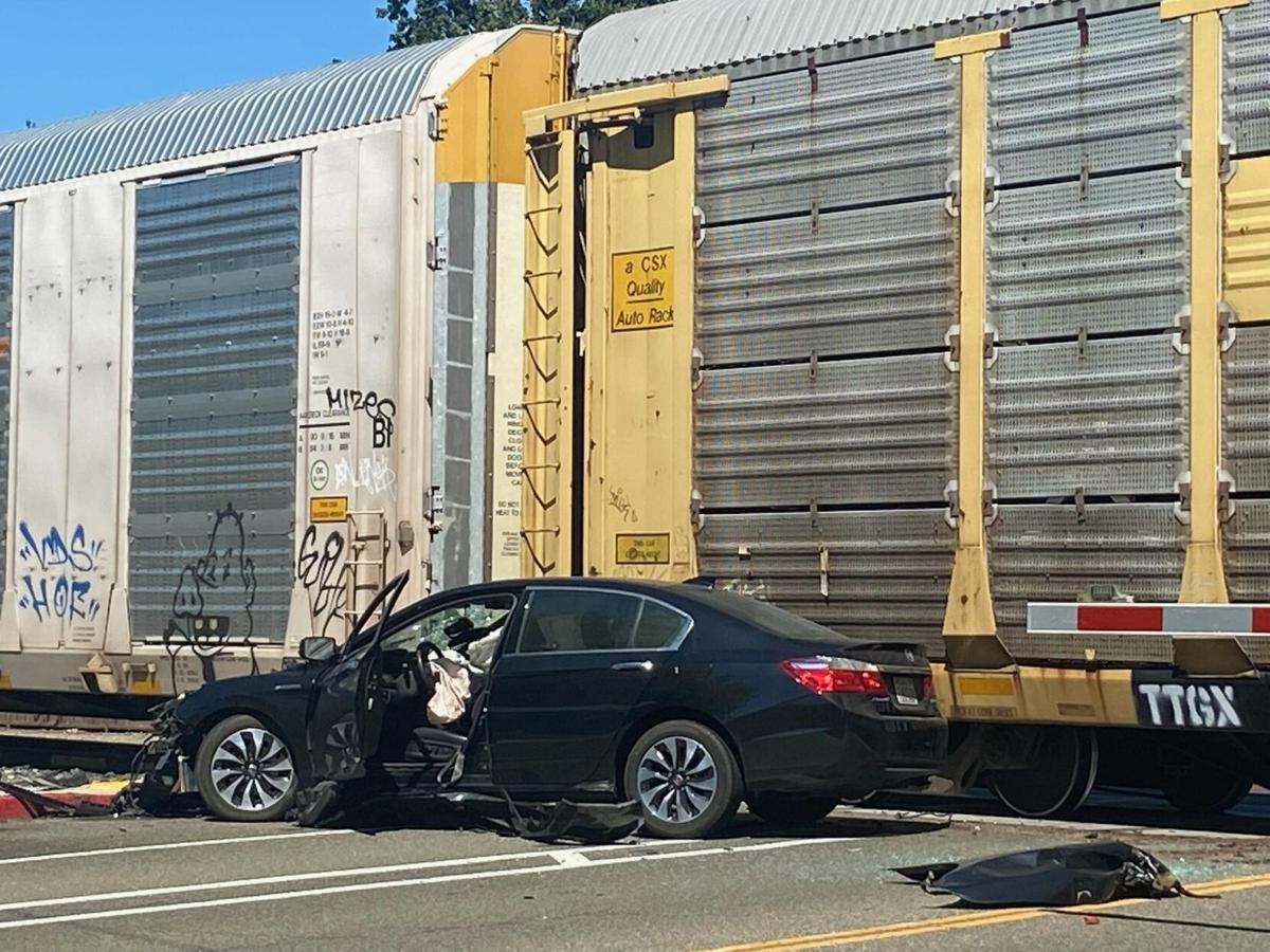 Traffic Delayed Due to Train vs Car Collision in Pleasanton 1