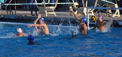 Foothill Water Polo Goalie Moises Ambriz Blocked a Shot