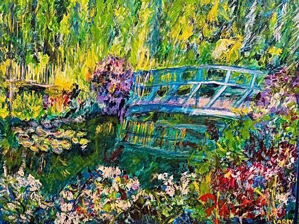 ART WALK - Larry Lagin %22monet's Garden.jpg