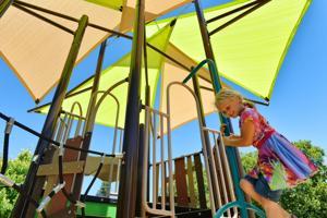 Kalia Derry enjoys the summer sunshine at Hansen Park in Pleasanton. (Photos – Doug Jorgensen)