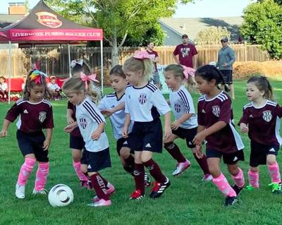 Fusion Soccer Club's U6 Secret Agents and Glitter Girls