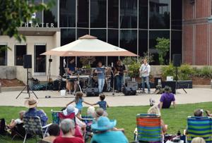 Tuesday Tunes opened its summer series on June 11 with Livermore native Jim Hurley and his jazz quartet, Night Harvest, performing on the Shea Homes Stage in front of the Bankhead Theater. Up next is Matt Finders & Friends, playing jazz, blues, funk and Latin. Bassist Matt Finders, also a Livermore native, spent 17 years playing with the Tonight Show Band. Matt has directed the jazz programs in Livermore's schools, founded the Jazz Labb music camps, and formed Element 116. (Photo – Doug Jorgensen)