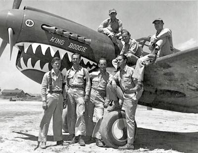 Pilots of the 23rd Fighter Group's 75th Fighter Squadron