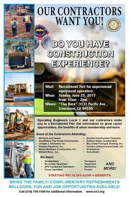 Recruitment Fair For Experienced Construction Operators The