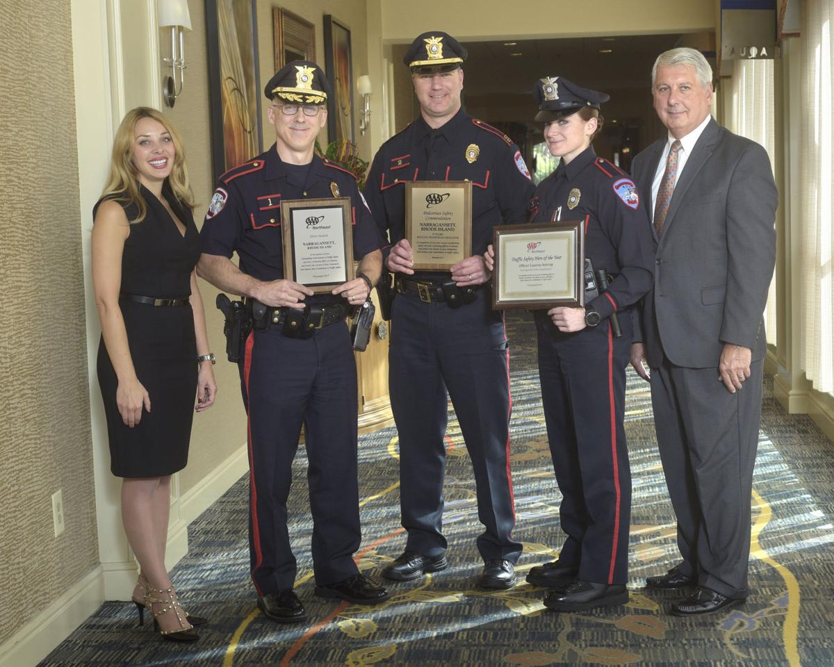 Aaa Honors Narragansett Police For Traffic Safety Efforts