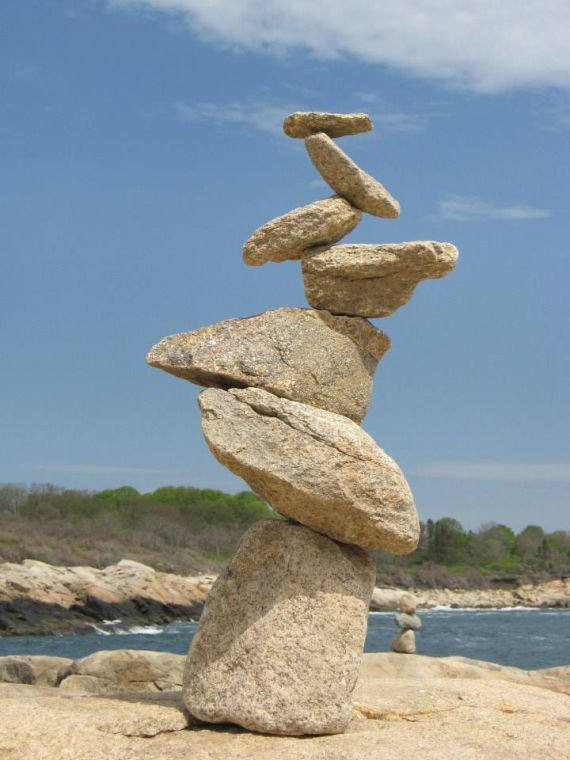 Narragansett Man Finds Passion As Rock Cairn Artist Arts And