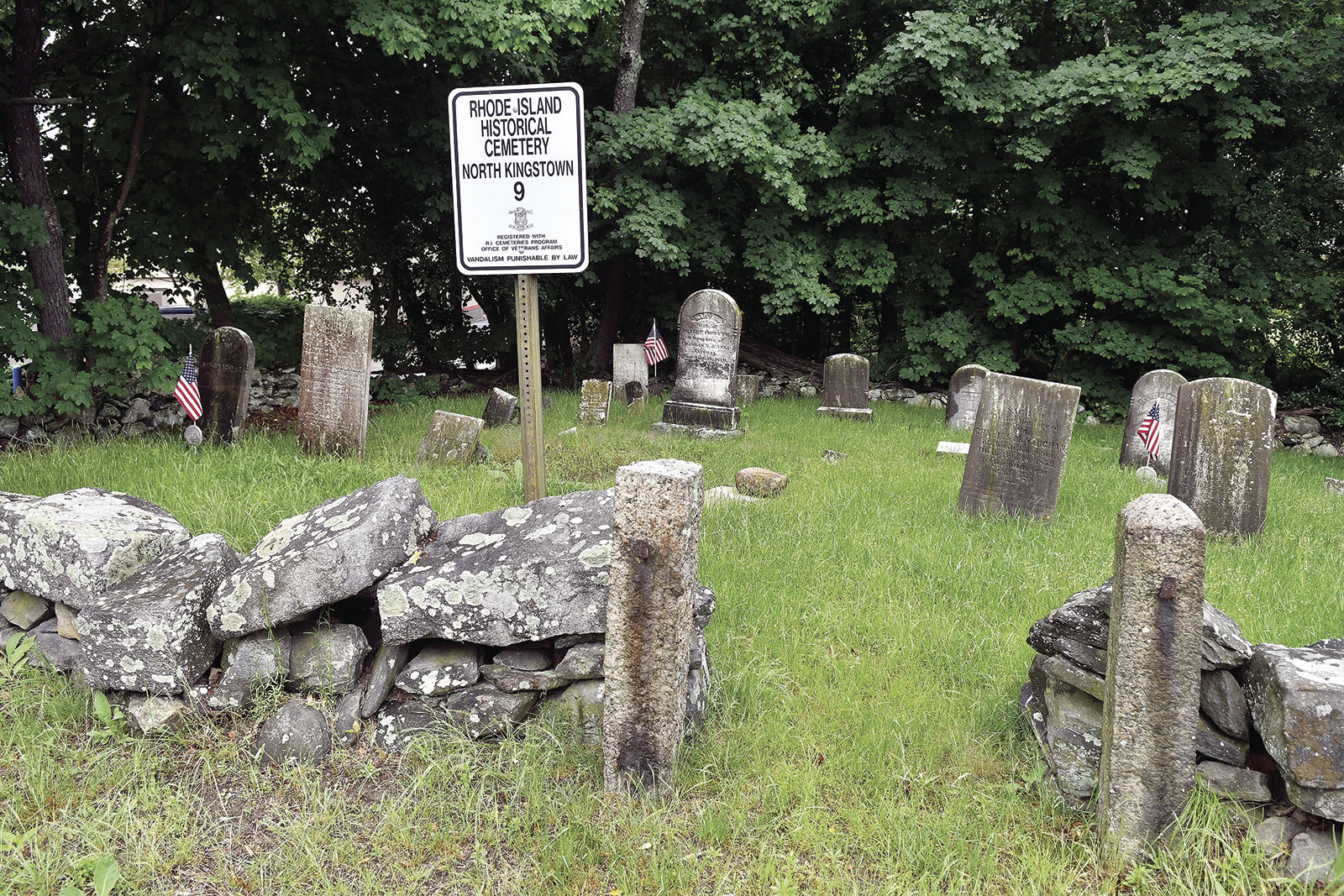 The View From Swamptown: What small cemetery lacks in size, it makes up for in history