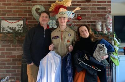 Local Boy Scout Collects Business Clothing For The Less Fortunate