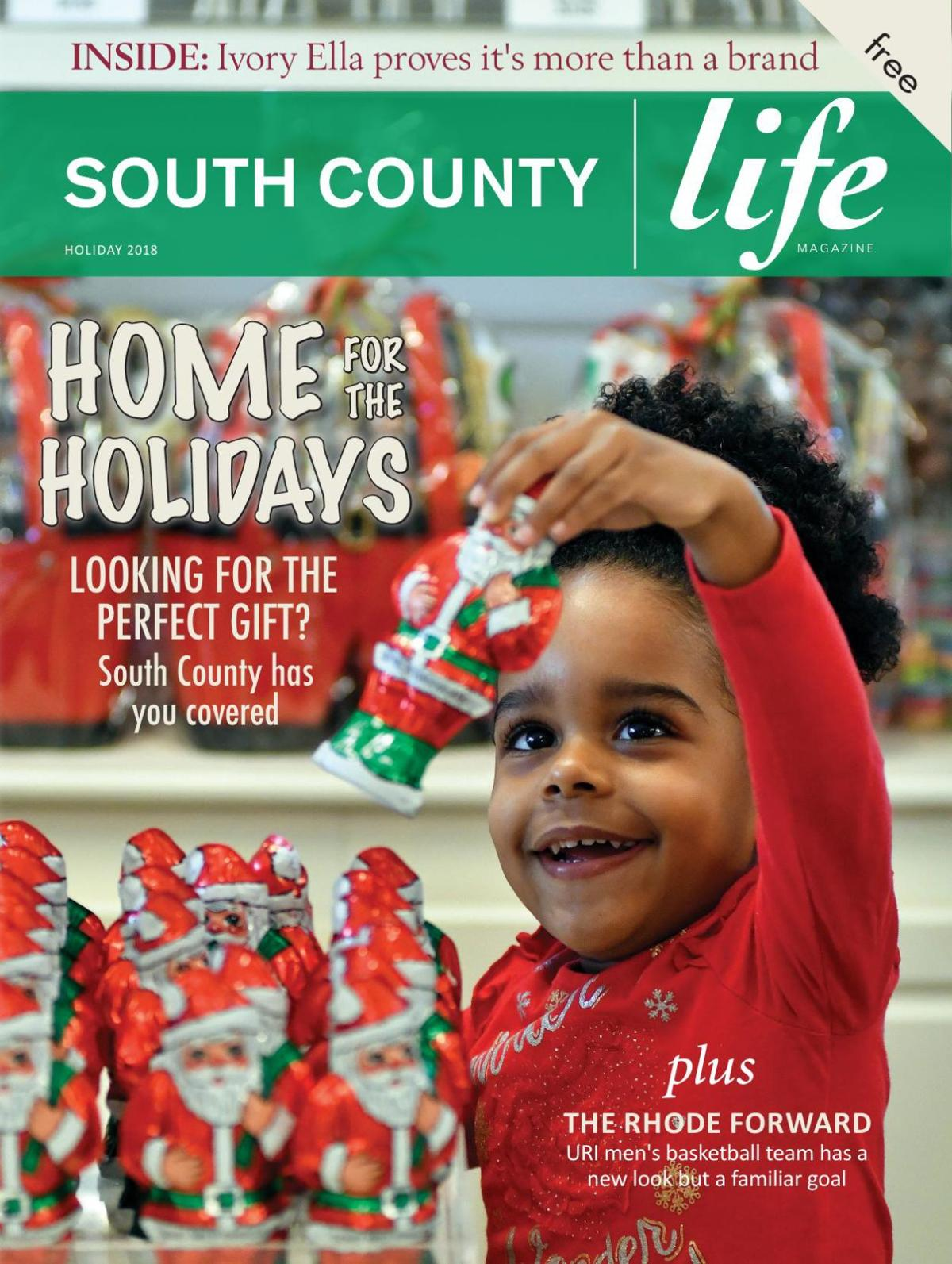 South County Life Magazine Holiday 2018 Cover