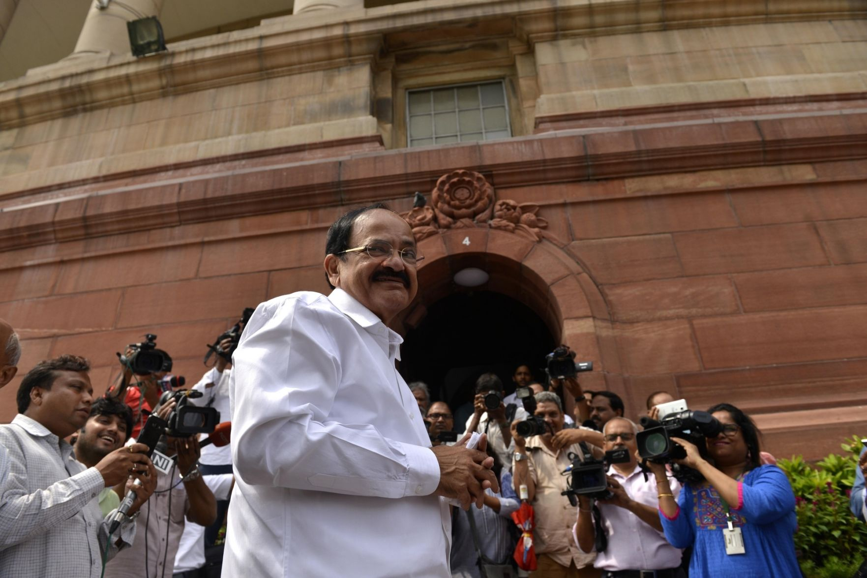 India's naidu elected vice president in another boost for Modi