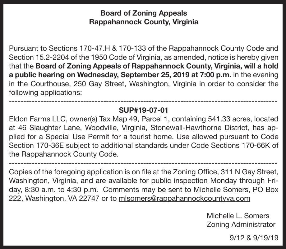Board of Zoning Appeals