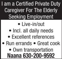 I am a Certified Private Duty
