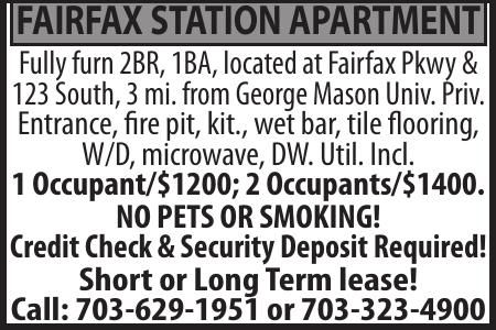 FAIRFAX STATION APARTMENT
