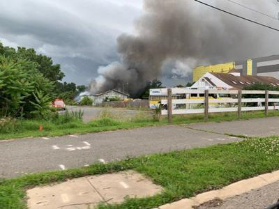 Large commercial fire in Gainesville on Monday