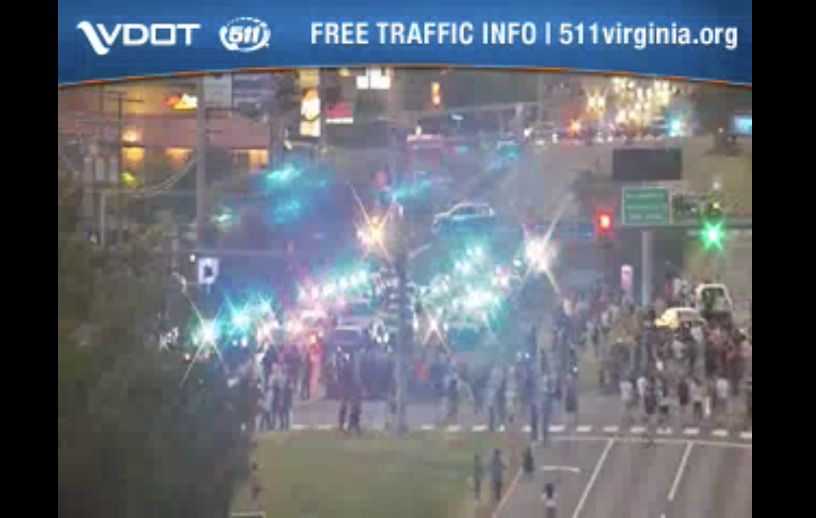 Police: Protesters throwing objects at vehicles and officers near Manassas